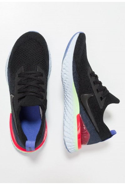 Nike EPIC REACT FLYKNIT 2 - Chaussures de running neutres black/ sapphire/lime blast