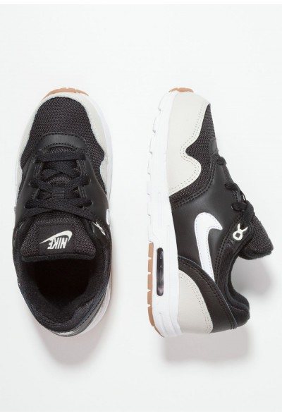 Nike AIR MAX 1 - Baskets basses black/light bone/medium brown/white