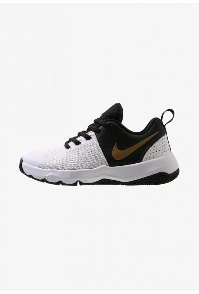 Black Friday 2019 - Nike TEAM HUSTLE QUICK - Chaussures de basket black/metallic gold/white