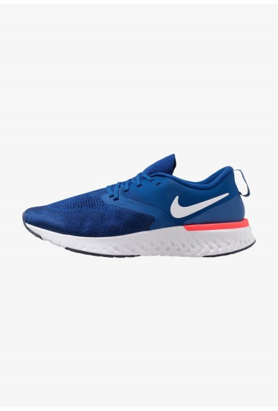 Nike ODYSSEY REACT 2 FLYKNIT - Chaussures de running neutres indigo force/white/blue void/red orbit