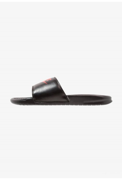 Nike BENASSI JDI - Sandales de bain black/game red/white