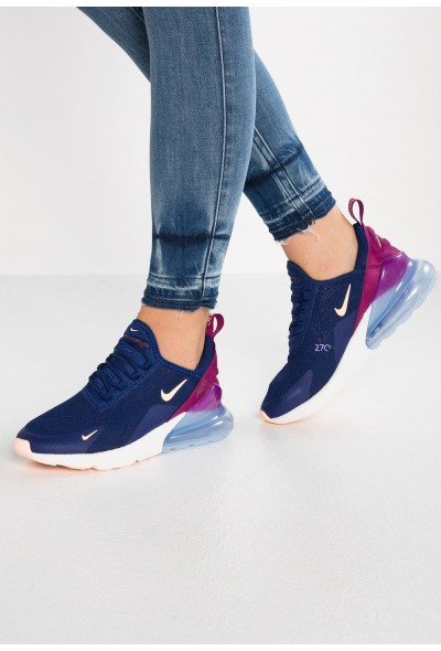 Black Friday 2019 - Nike AIR MAX 270 - Baskets basses blue void/crimson tint/true berry/platinum tint/space purple