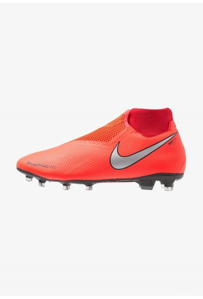 Nike PHANTOM OBRA 3 PRO DF FG - Chaussures de foot à crampons bright crimson/metallic silver/university red/black