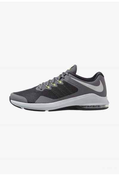 Nike AIR MAX ALPHA TRAINER - Chaussures d'entraînement et de fitness dark grey/metallic silver/cool grey/wolf grey/black/volt