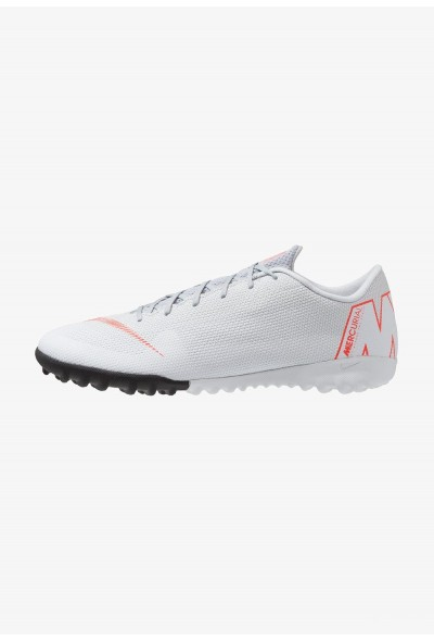 Nike MERCURIAL VAPORX 12 ACADEMY TF - Chaussures de foot multicrampons wolf grey/light crimson/pure platinum/metallic silver