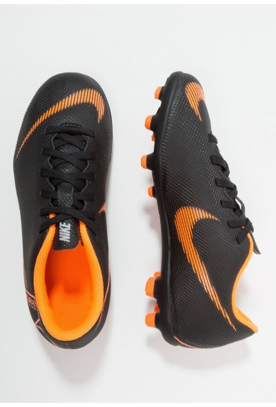 Nike MERCURIAL VAPOR 12 CLUB MG - Chaussures de foot à crampons black/total orange/white