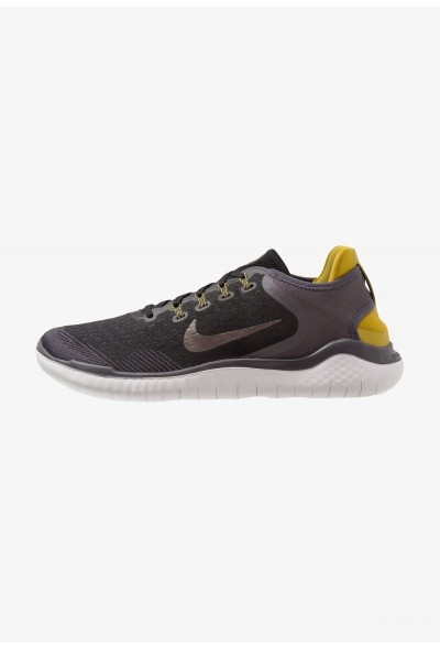 Nike FREE RN 2018 - Chaussures de course neutres black/metallic pewter/peat moss/thunder grey/vast grey