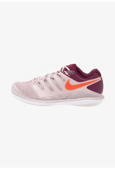 Nike AIR ZOOM VAPOR X HC - Baskets tout terrain particle rose/bright crimson/bordeaux