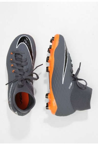 Nike PHANTOM 3 ACADEMY DF FG - Chaussures de foot à crampons dark grey/total orange/white