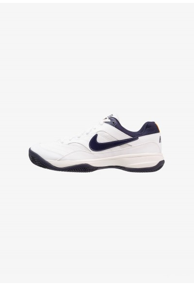 Nike COURT LITE CLAY - Chaussures de tennis sur terre battue white/blackened blue/phantom/orange peel