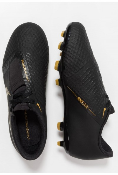 Nike PHANTOM ACADEMY FG - Chaussures de foot à crampons black/metallic vivid gold