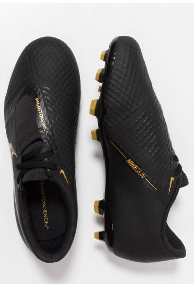 Nike PHANTOM ACADEMY FG - Chaussures de foot à crampons black/metallic vivid gold
