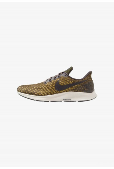 Nike AIR ZOOM PEGASUS 35 - Chaussures de running neutres thunder grey/oil grey/dark citron/light bone
